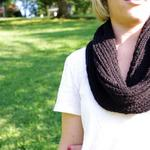 black wool round scarf can be made in different lengths, weights, knit structures, and color  starts at $20