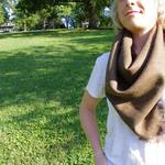 brown square 34 in. wool and silk woven scarf  starts at $30