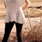 White Merino wool hand knit sweater tank starts at $40- color, sizes, fit and sleeves can be changed