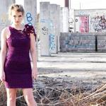 hand knit and crochet purple merino wool and cotton dress Can change size and color starts at $140
