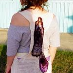 hand dyed and crochet cotton vest  Can be purchased at Cherry Bomb in Louisville, KY